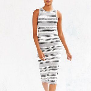 UO Silence + Noise Late Pass Bodycon Midi Dress